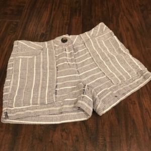 Cynthia Rowley cotton textured striped dress short